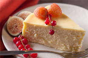 Crustless Vanilla Cheesecake