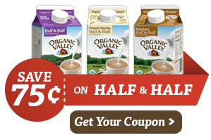 Organic Valley Half and Half - Print your Coupon