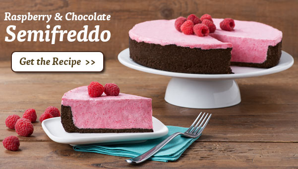 Raspberry & Chocolate Semifreddo. Get the Recipe >>