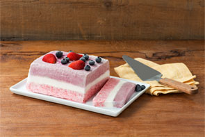 Triple Layer Berry Semifreddo