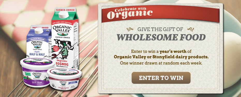Celebrate with Organic: Enter to Win Free dairy products